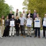 Preisträger des Medienpreises und die Laudatoren. Foto: Hufner